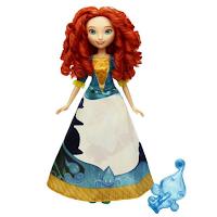 La princesse Merida du film Rebelle avec une robe magique