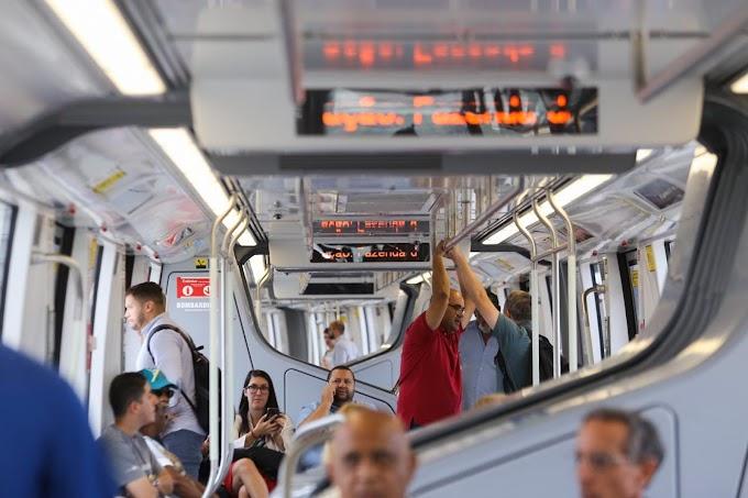 Linha 15-Prata do Monotrilho volta a operar em velocidade reduzida após paralisação ocorrida neste domingo