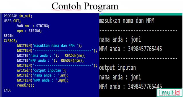 Contoh program inputan menggunakan perintah readln