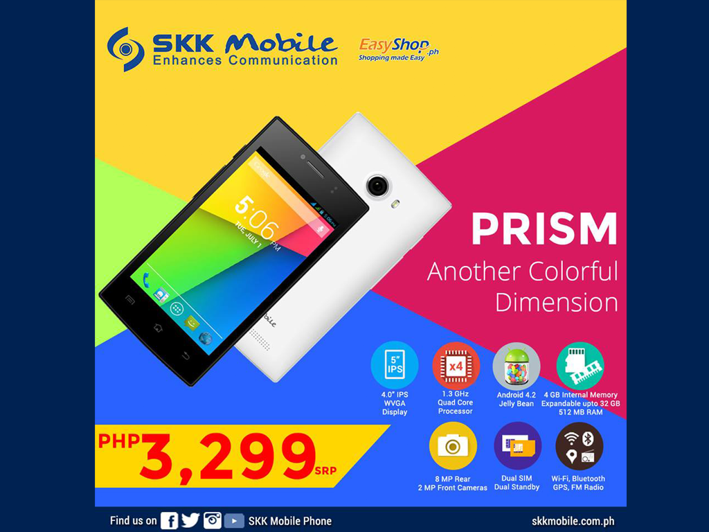 SKK Prism: 4-inch Quadcore Smartphone Priced at Php 3,299