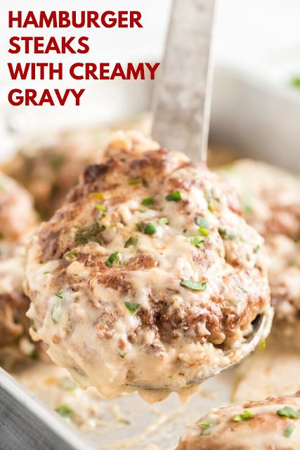 Hamburger Steaks with Creamy Gravy
