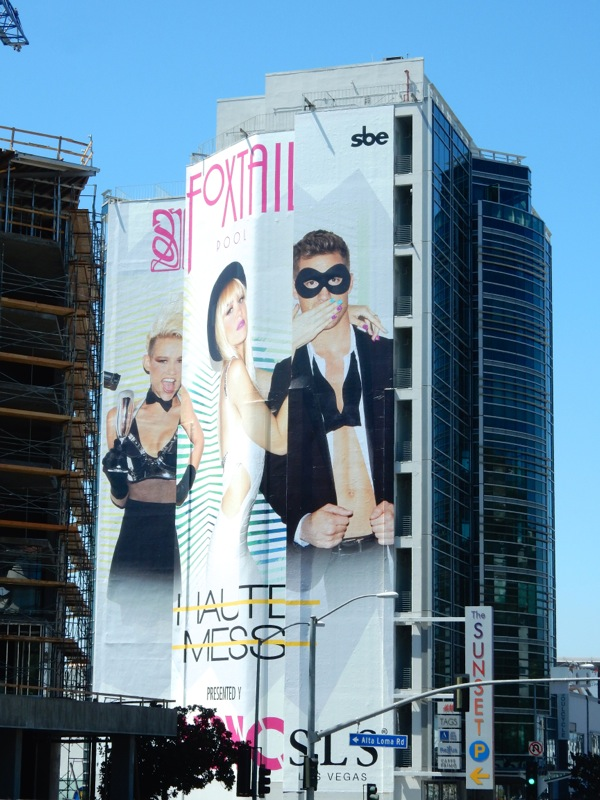 Giant Foxtail Pool Haute Mess Las Vegas billboard