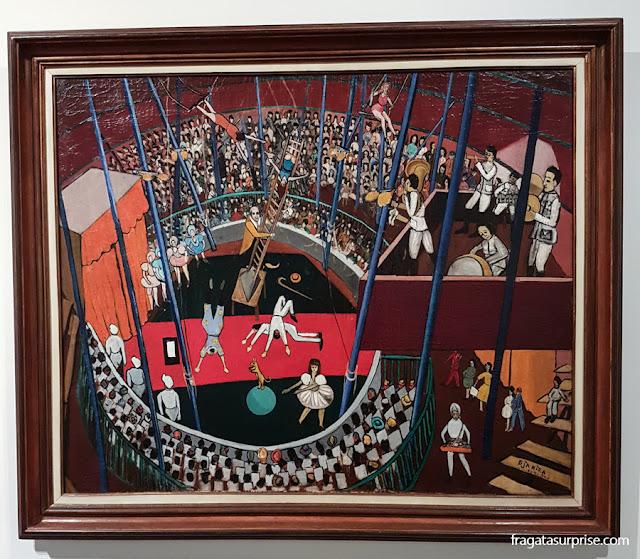 """""""O Circo"""", tela de Djanira no Museu Nacional de Belas Artes"""