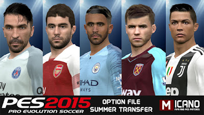 PES 2015 Next Season Patch 2019 Option File 11/07/2018 Season 2018