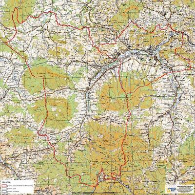 mapa obszaru zachowawczego linii dobra