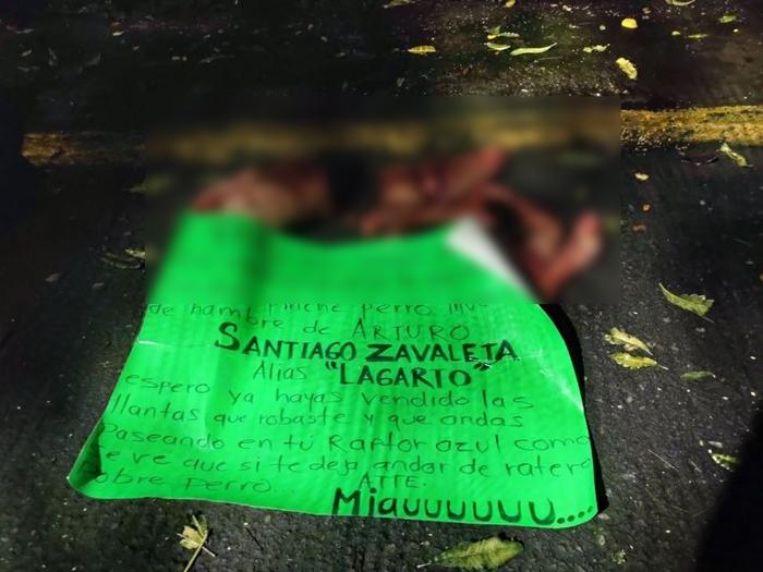 Brazo Armado del CJNG le quita su linda carita a hombre en Orizaba; Veracruz