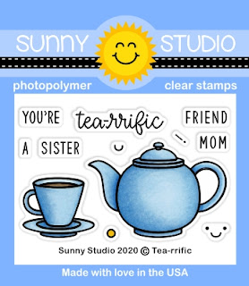 Sunny Studio Blog: Tea-riffic Mother's Day 2x3 Clear Photopolymer Stamp Set