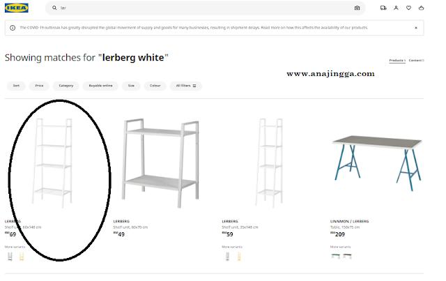 Cara check stok produk IKEA sebelum pergi shopping di store