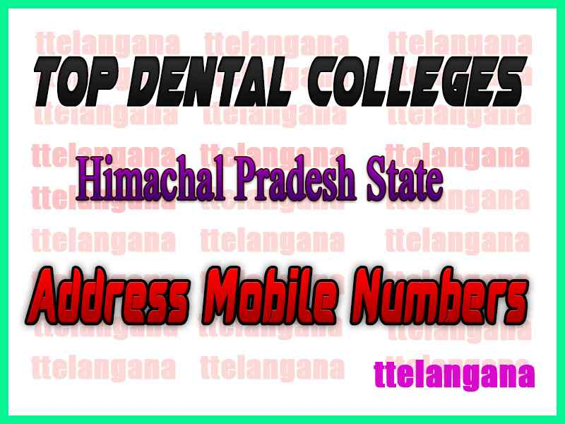 Top Dental Colleges in Himachal Pradesh