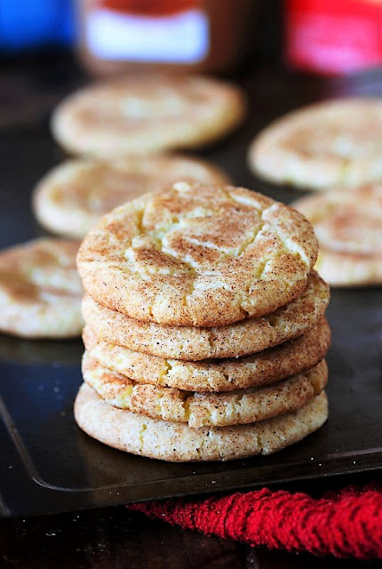 Stack of Cake Mix Snickerdoodles Image