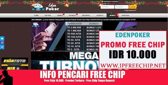 EDENPOKER - Free Chip 10.000 Tanpa Deposit
