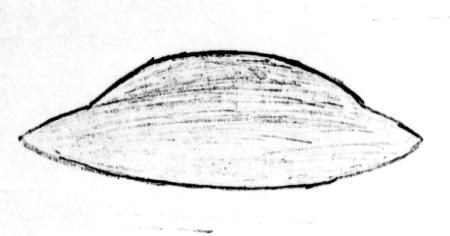 Saucer Drawing Carpio Grano Missle Field (Minot) 8-24-1966