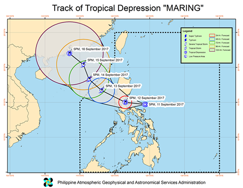 'Bagyong Maring' PAGASA weather update September 12, 2017