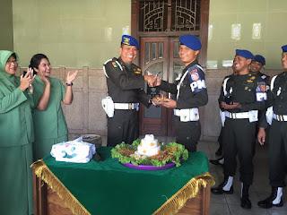Perayaan HUT ke-73 POMAD, Dandenpom Divif 2 Kostrad Laksanakan Apel Corps
