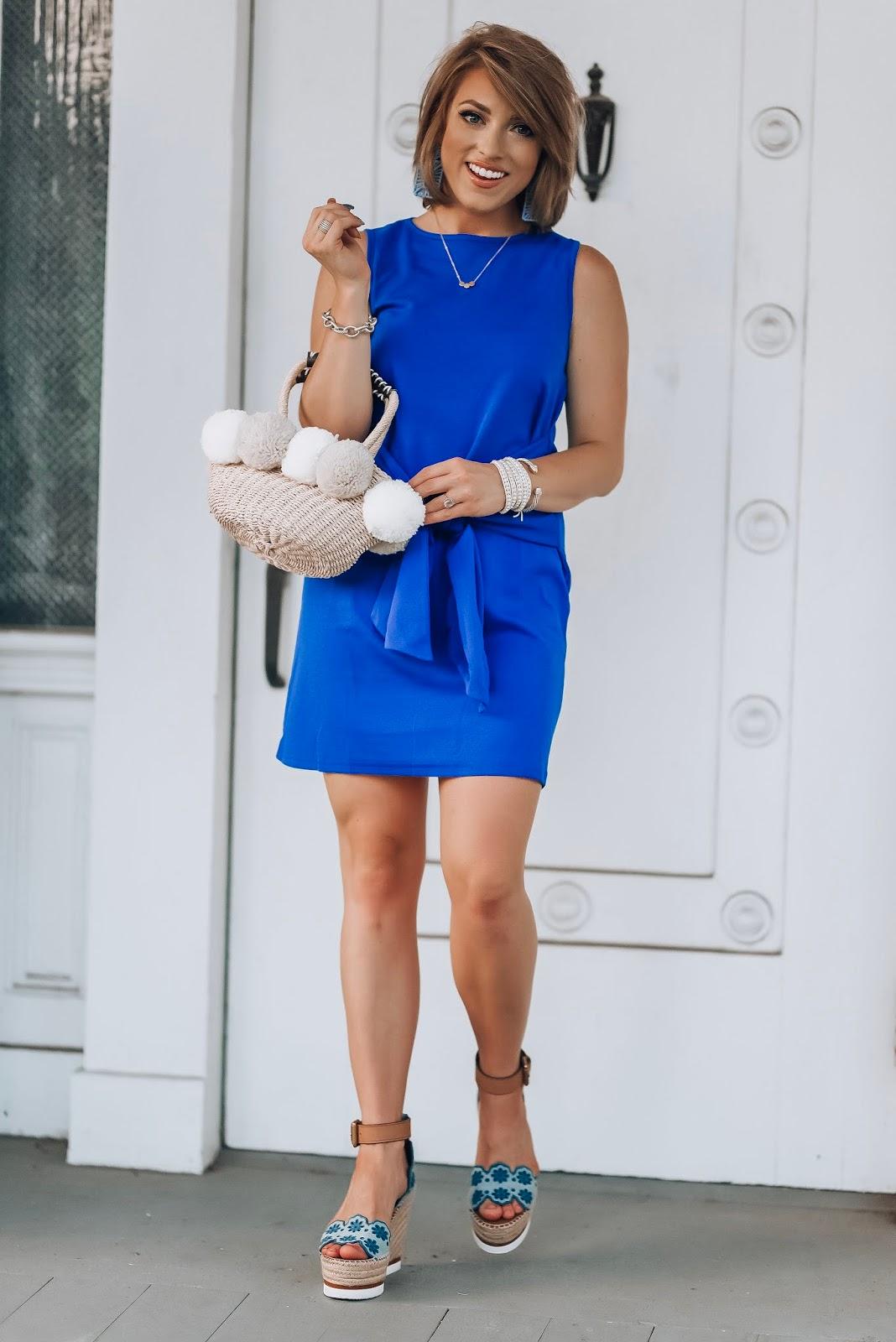Under $20 Tie Front Dress + Recent Amazon Finds - Something Delightful Blog