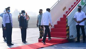 Jokowi Kunker ke Kalteng Saat Demo Omnibus Law Menuju Istana
