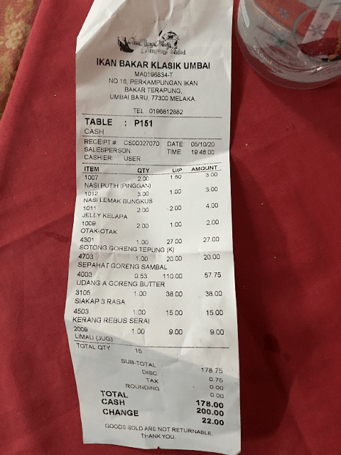 Tempat Makan Seafood Best dan murah Di Melaka