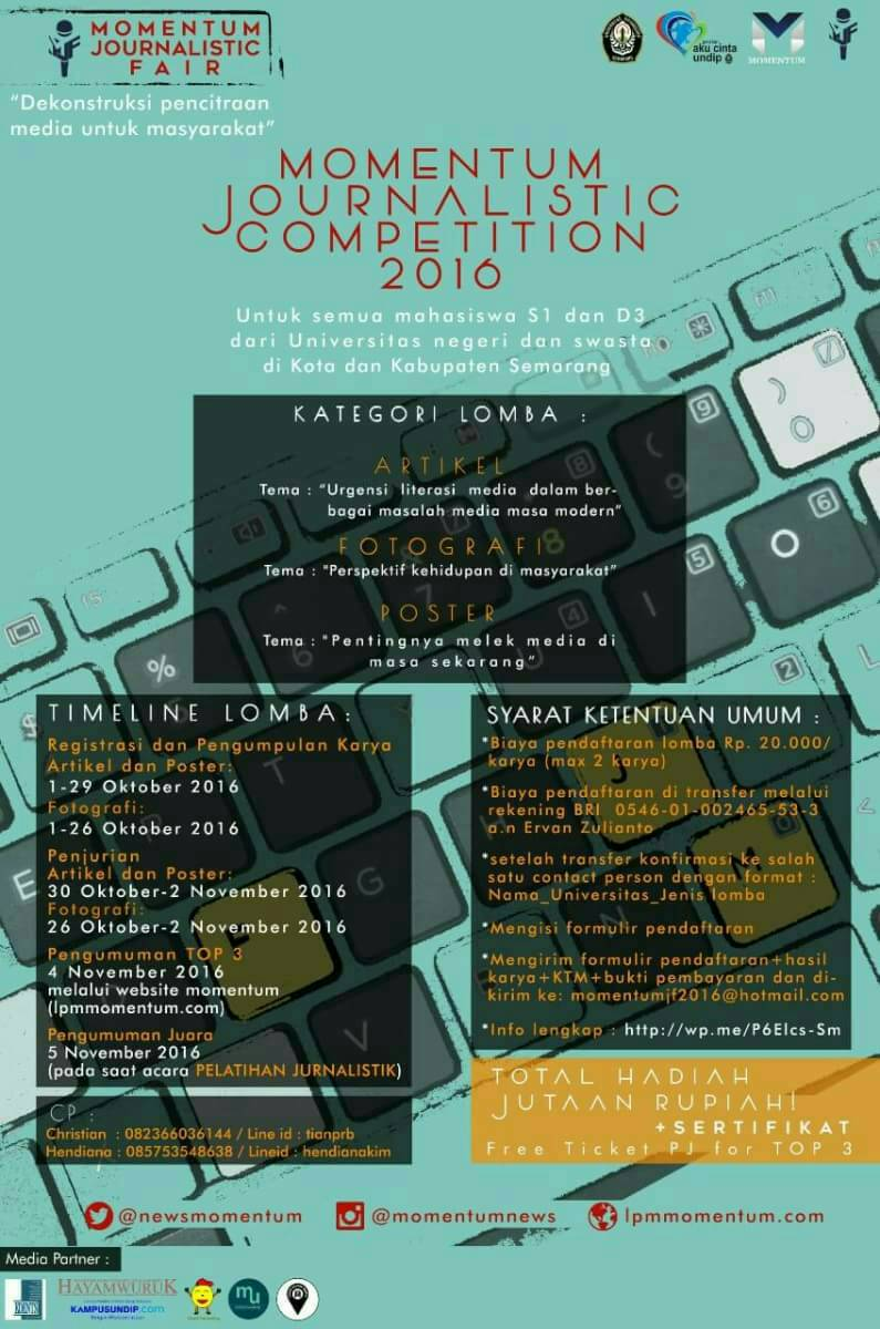 MOMENTUM JOURNALISTIC COMPETITION 2016