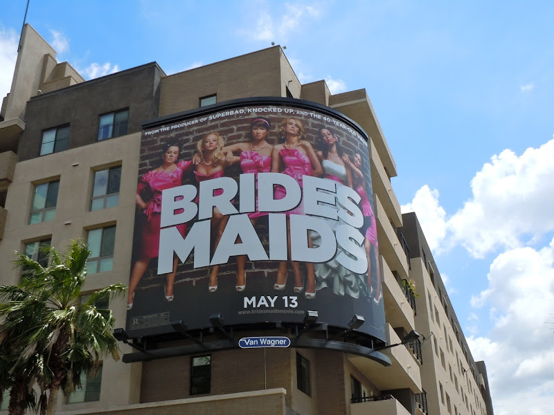 Bridesmaids movie billboard
