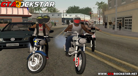 NPC Helmet Mod v2.5 (Motociclistas com Capacetes) para GTA SA