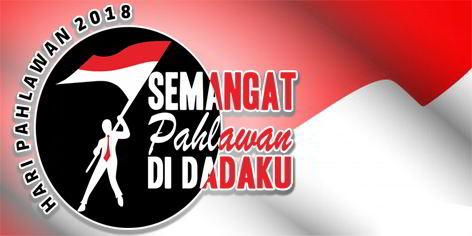 Download Logo Peringatan Hari Pahlawan 2018 Format Jpeg, PNG, PSD, CDR