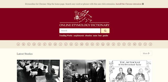 online etymology library