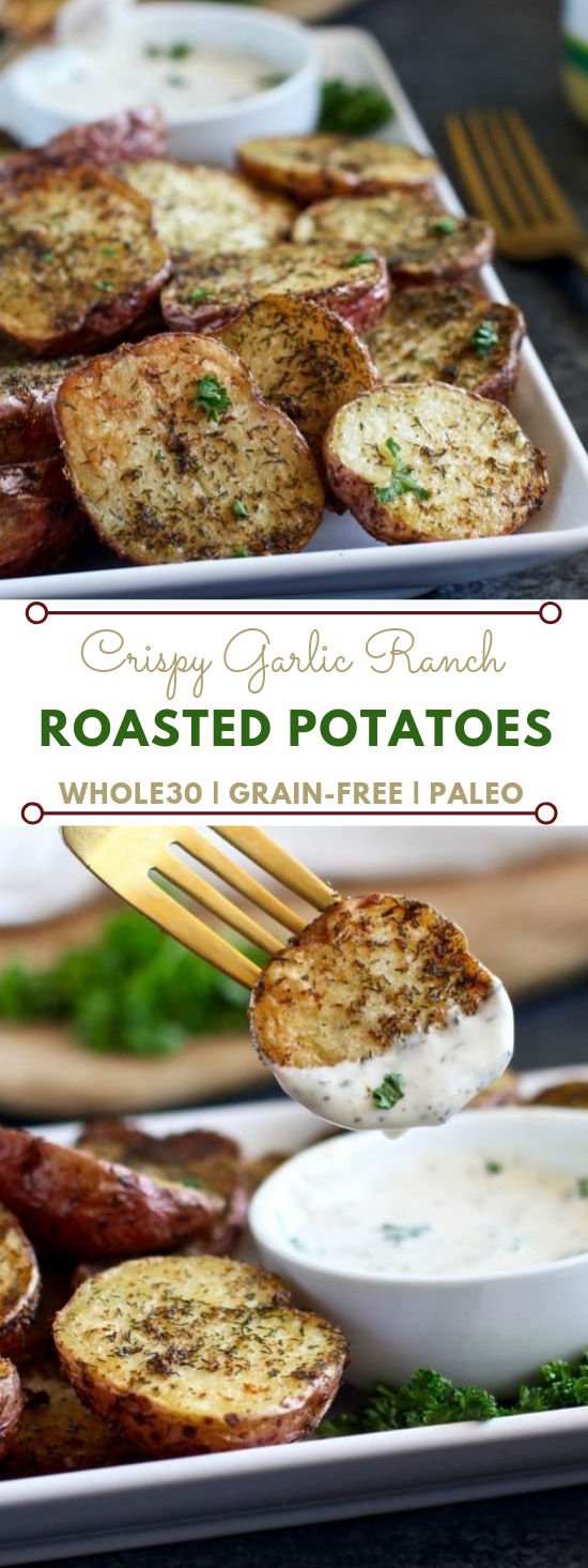 Crispy Garlic Ranch Roasted Potatoes #garlic #diet #lowcarb #rosted #easy