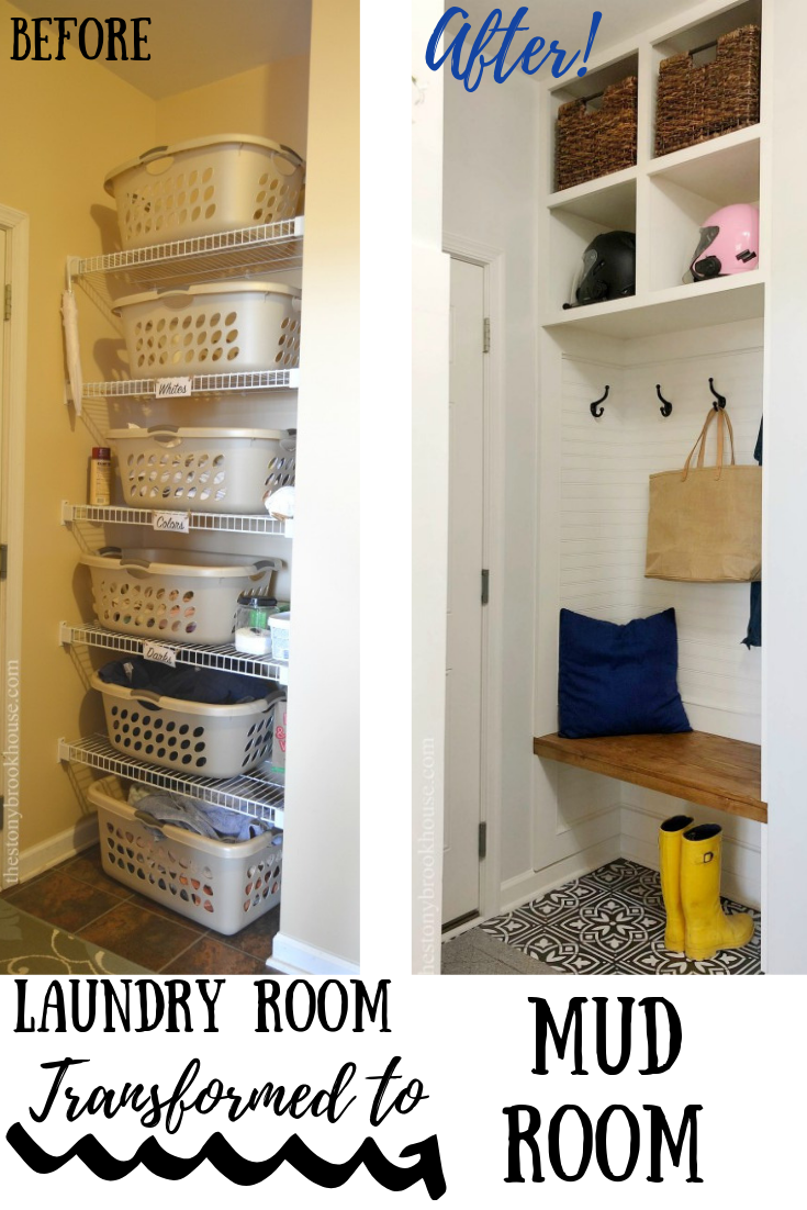 Laundry Room Transformed To Mudroom