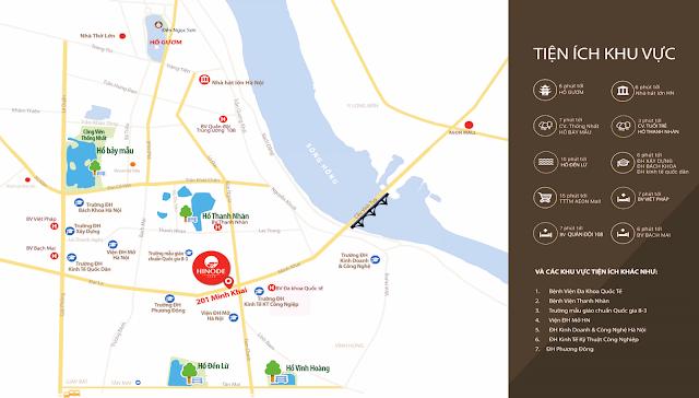 vị trí đắc địa dự án Hinode City 201 Minh Khai