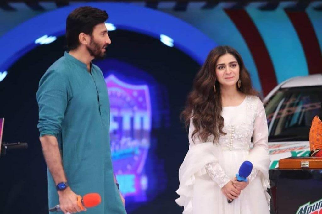 Faizan Sheikh and Hajra Yamin in Jeeto Pakistan Show