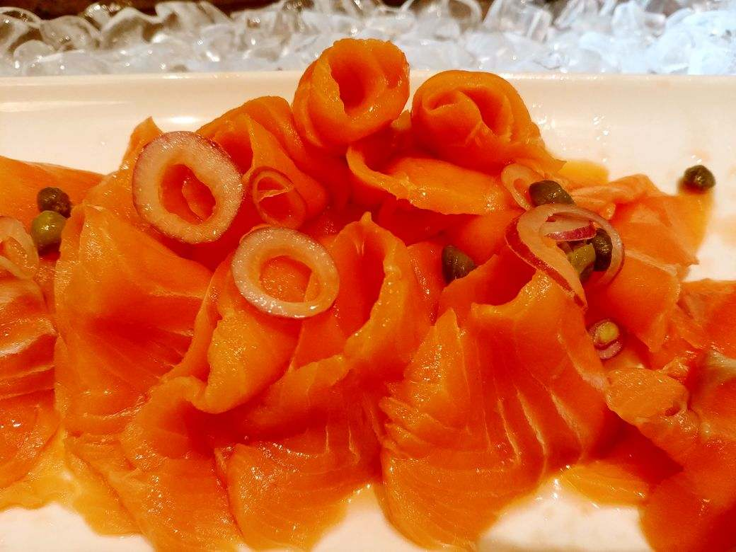 Smoked salmon at Circles Event Cafe