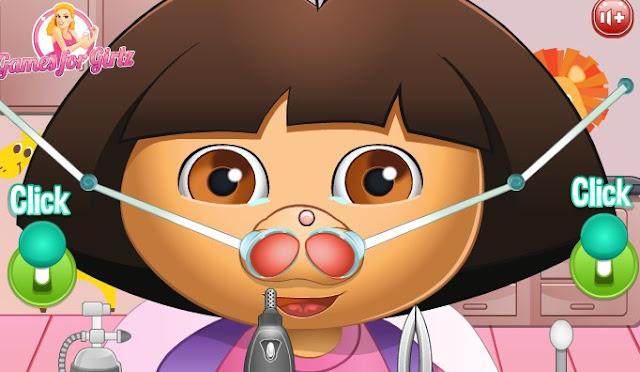Dora Nose Doctor game