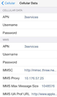 Three APN Settings for iPhone Australia