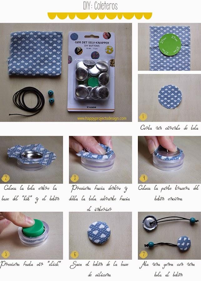 DIY coleteros de tela: paso a paso