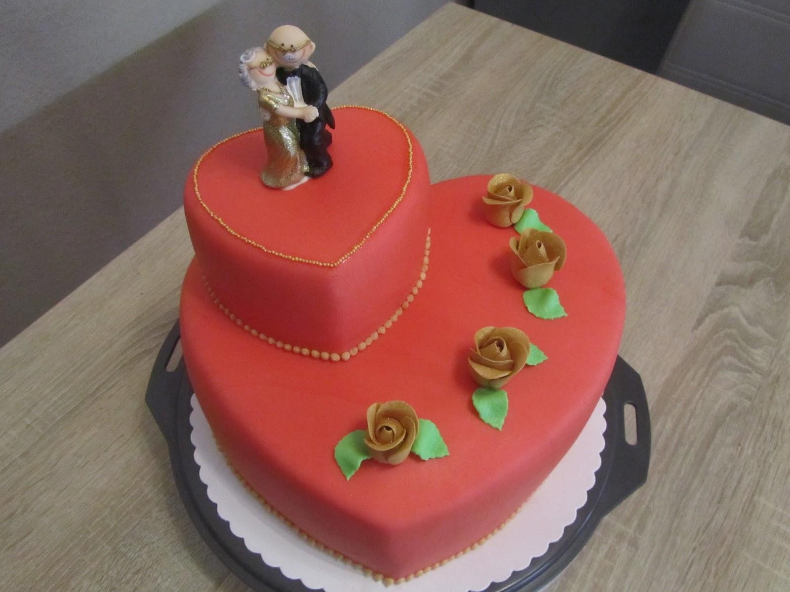 Torten goldene hochzeit for Kuchen mink bensheim