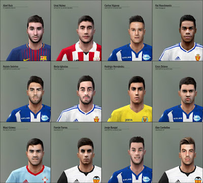 PES 6 Facepack LaLiga Santander & LaLiga 123 by Adam & The Kid Facemaker