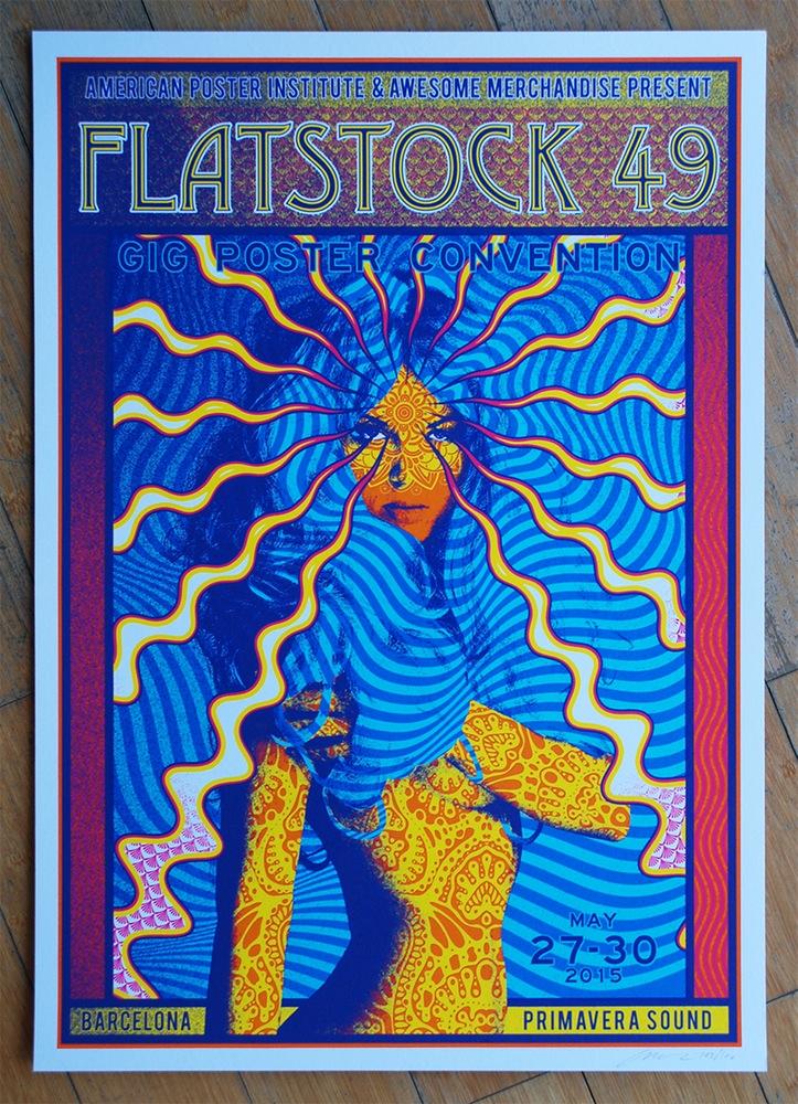 adam pobiak flatstock barcelona poster release
