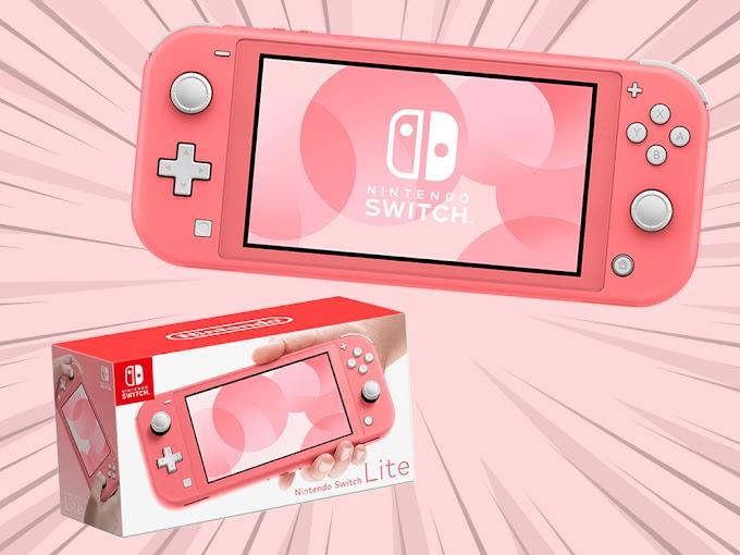 Sorteio de um Nintendo Switch Lite Coral