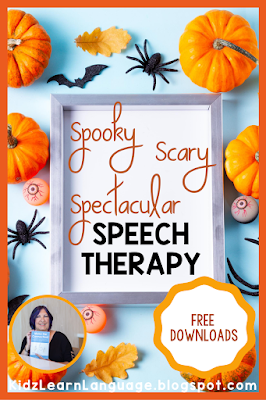 spooky speech therapy  for halloween
