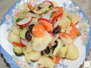 Salata orientala de post reteta,