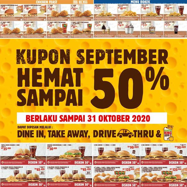 Kupon Gratis BURGER KING Kupon Hemat Terbaru September 2020