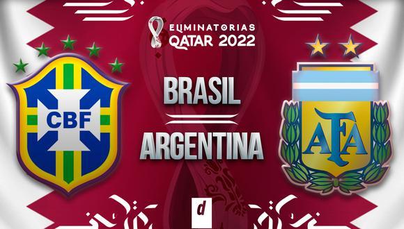 Brasil vs. Argentina EN VIVO: canales TV del partido detenido por las Eliminatorias