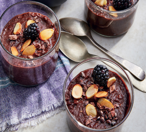 HEALTHY BREAKFAST BLACK FOREST CHIA PUDDING