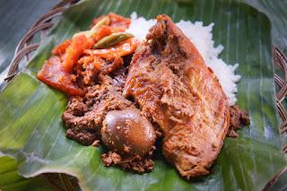 Indonesian special food Gudeg, sate