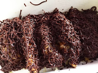 the pisang cheese_chocolate cheese