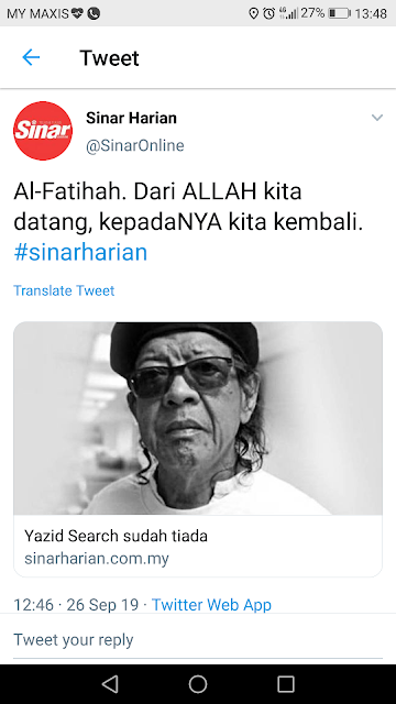 Yazid Search meninggal dunia