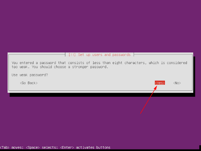 password ubuntu server