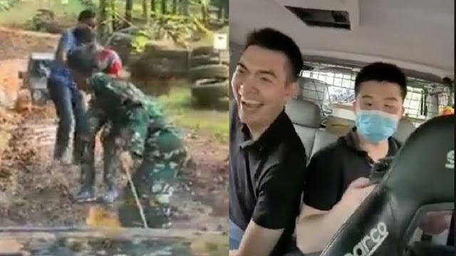 Viral Orang China Ngakak Numpang Mobil Mogok yang Ditarik TNI, Netizen: Saya Anak TNI Merasa Tersinggung!