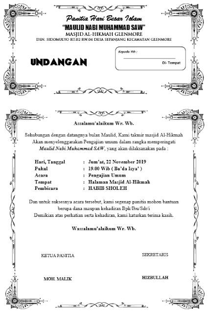 template undangan maulid nabi - disain undangan maulid nabi - contoh undangan maulid nabi