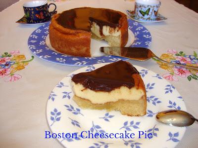 Tarta Boston pie cheesecake